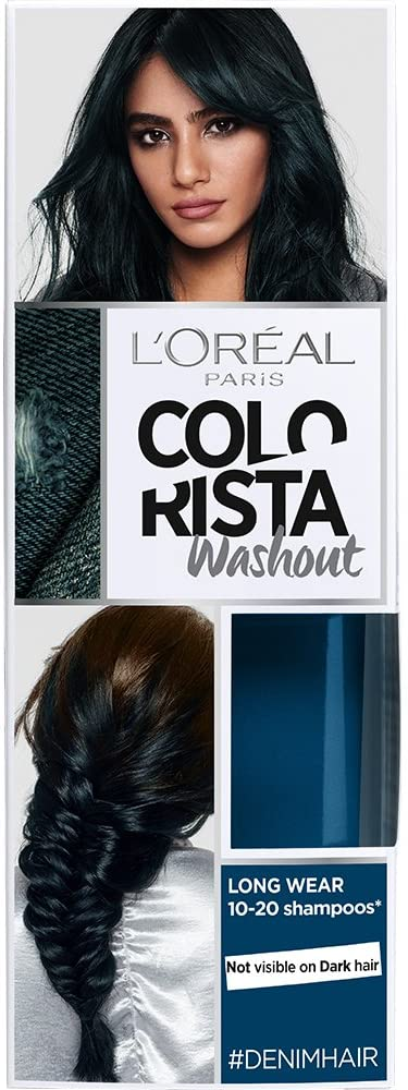 L'Oreal Paris Colorista Coloración Temporal Tono Washout Denim Hair mechas balayage